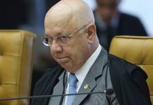 O ministro do Supremo Tribunal Federal Teori Zavascki é relator dos processos da Lava-Jato Foto: Andre Coelho / Agência O Globo