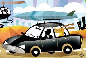 Serviços de transporte alternativo Foto: Arte O Globo/André Mello