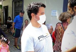 Esta semana, fila em busca por vacina chegou a duas horas de espera em São Paulo Foto: Agência O Globo