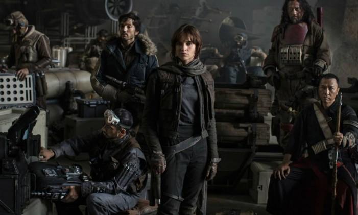 Parte do elenco de 'Rogue One: A Star Wars Story' Foto: Divulgação