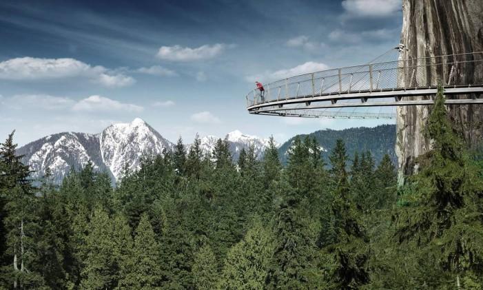 Capilano Bridge Park, Cliffwalk, no Canadá. Foto: Foto de Divulgação