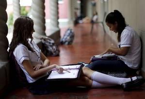 Colégio Pedro ll do Engenho de Dentro tem projetos que exploram diversos aspectos da aprendizagem Foto: Domingos Peixoto / Agência O Globo