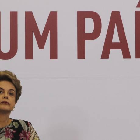 Dilma Rousseff no Palácio do Planalto Foto: Givaldo Barbosa / Agência O Globo