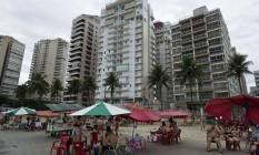 O Edifício Solaris, no Guarujá, onde Lula seria proprietário de um tríplex Foto: Nelson Almeida / AFP