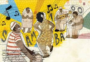 Os 100 anos do samba: ritmo mudou Zona Norte Foto: Editoria de Arte