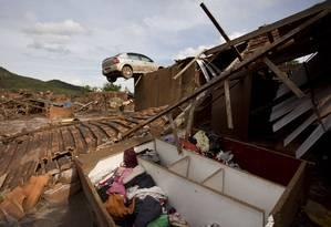 Tragédia. O rompimento da barragem de Fundão, da mineradora Samarco, destruiu completamente Bento Rodrigues, distrito de Mariana Foto: Márcia Foletto