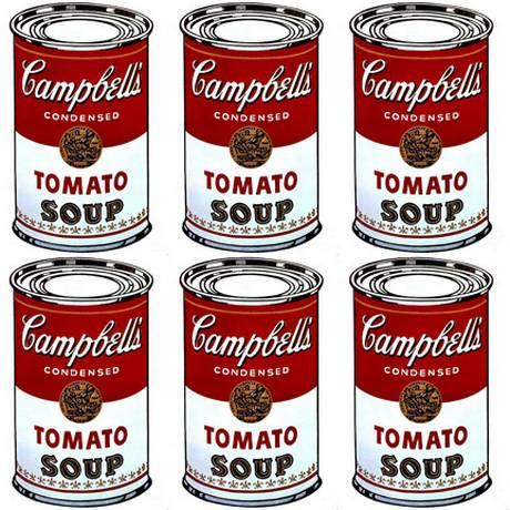 'Campbell's Soup Can': Célebre série de Andy Warhol Foto: ReproduçãoCampbell's Soup Can