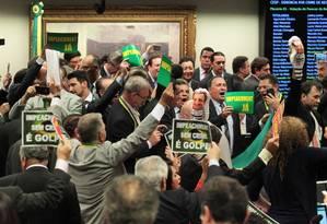 Comissão especial aprova aprecer pelo afastamento da presidente Dilma Foto: Jorge William / Agência O Globo