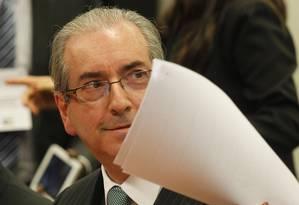 O presidente da Câmara, deputado Eduardo Cunha (PMDB-RJ) Foto: Givaldo Barbosa / Agência O Globo/7-4-2016