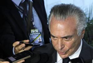 O vice-presidente Michel Temer Foto: Givaldo Barbosa / Agência O Globo / 11-4-2016