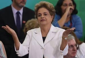 Dilma Rousseff participa de encontro com educadores no Palácio do Planalto no Palácio Foto: André Coelho / Agência O Globo