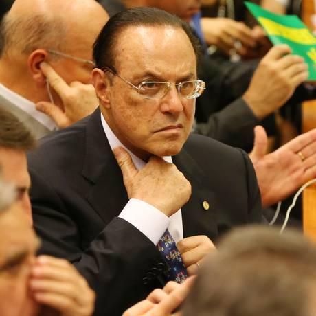 Paulo Maluf na Comissão Especial do Impeachment, na Câmara dos Deputados Foto: Ailton Freitas (11-04-2016) / Agência O Globo