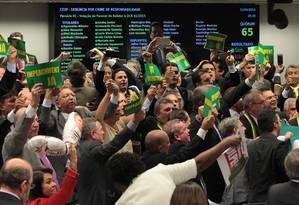 Depois da derrota governista na Comissão do Impeachment, petistas admitem que enfrentam jogo desfavorável Foto: Jorge William / Agência O Globo