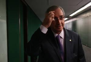 O presidente da Câmara, Eduardo Cunha (PMDB-RJ) Foto: Ailton de Freitas / Agência O Globo / 12-4-2016