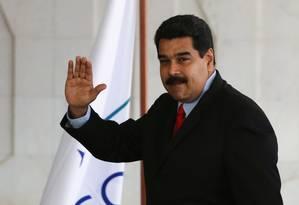 Nicolás Maduro, presidente da Venezuela: de acordo com o FMI, país está em situação econômica grave Foto: Ailton de Freitas / Agência O Globo