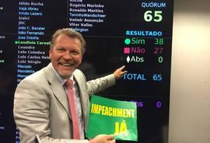 Sim. Deputado Afonso Hamm votará a favor do impeachment de Dilma Foto: Reprodução de internet