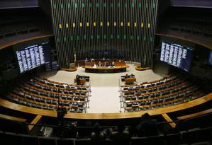 Plenário da Câmara dos Deputados vai votar domingo impeachment da presidente Dilma Foto: Ailton de Freitas / Agência O Globo 12/04/2016