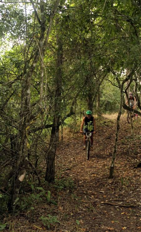 Quem gosta de pedalar pode explorar de bicicleta a Trilha da Lagoa, com 7km, que cruza a mata do Parque Ecológico Rio Formoso Foto: Eduardo Vessoni / .