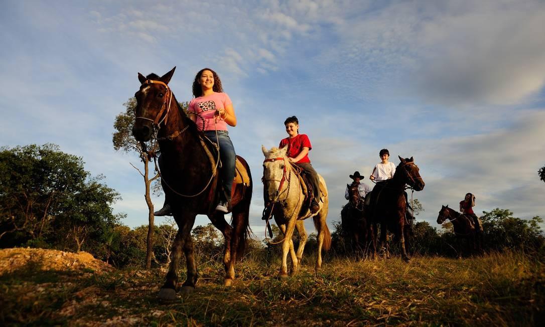 Bonito também é um lugar para se explorar a cavalo. A Estância Mimosa oferece essa experiência Foto: Beto Nascimento / Divulgação