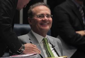 O presidente do Senado, Renan Calheiros (PMDB-AL) Foto: Jorge William / Agência O Globo / 7-4-2016