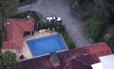 Imagem aérea do sítio frequentado por Lula em Atibaia Foto: Reprodução / Agência O Globo