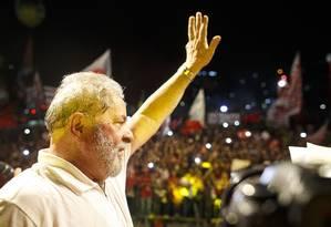 O ex-presidente Lula, um dos alvos da Lava-Jato Foto: Daniel Marenco/11-4-2016