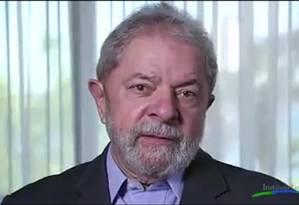 Ex-presidente Lula em vídeo divulgado nas redes sociais Foto: Reprodução