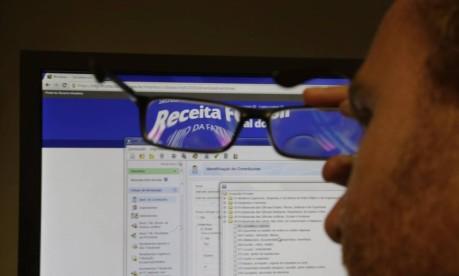 Tela do programa do Imposto de Renda Foto: Marcelo Carnaval / Agência O Globo
