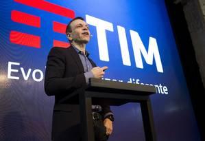 Divulgação Foto: Rodrigo Abreu, presidente da TIM, anunciou nesta sexta-feira novo conceito da empresa