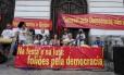 Bloco de carnaval pela Democracia na Cinelândia