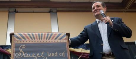 Ted Cruz durante a convenção republicana de Wyoming: senador obteve importante vitória nas prévias do estado Foto: Jenna VonHofe / AP
