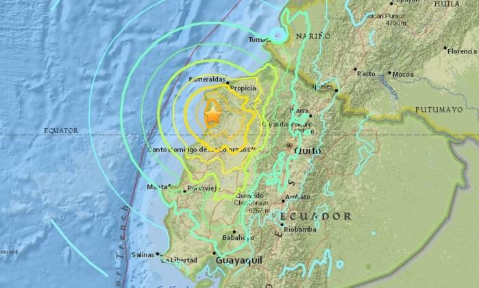 Resultado de imagem para terremoto musine equador