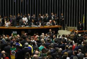 As poucas ausências no plenário frustram expectativas do governo Foto: Ailton de Freitas / Agência O Globo