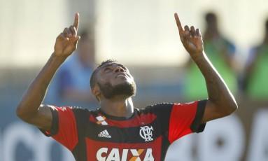 Marcelo Cirino comemora gol pelo Flamengo Foto: Gilvan de Souza / Divulgação Flamengo
