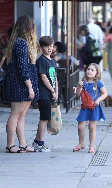 Harper e Cruz, na foto, costumam aparecer nos desfiles da mãe, na semana de moda de Nova York AKM-GSI