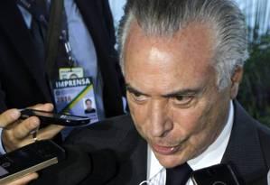 O vice-presidente Michel Temer Foto: Givaldo Barbosa / Agência O Globo