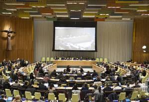Encontro preparatório para a Sessão Especial da Assembleia Geral das Nações Unidas que vai discutir a questão das drogas a partir de hoje Foto: Divulgação/Rick Bajornas