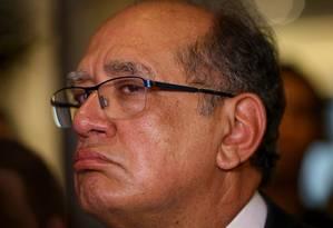 Ministro GIlmar Mendes fala no Roda Viva Foto: Pedro Kirilos / Agência O Globo