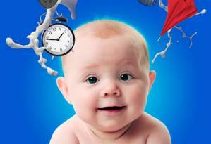 O leite materno é responsável por nutrir o bebê, mas também por protegê-lo de infecções, formar a população de bactérias de seu intestino e adaptar seu organismo à rotina Foto: Divulgação/Arte de Thierry Hennet