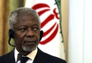 Kofi Annan é um crítico a atual política global de repressão às drogas Foto: Atta Kenare / AFP