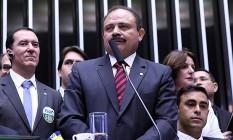 O vice-presidente da Câmara dos Deputados, Waldir Maranhão, durante sessão da votação do impeachment Foto: Antônio Augusto/Câmara dos Deputados (17-04-2016)