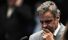 O senador Aécio Neves (PSDB-MG) Foto: Jorge William / Agência O Globo / 19-4-2016