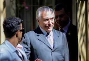 O vice-presidente Michel Temer em São Paulo Foto: Pedro Kirilos / Agência O Globo / 19-4-2016