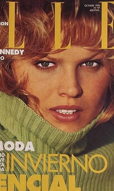"""Eva na capa de outubro de 1994 da """"Elle"""" Espanha Reprodução"""