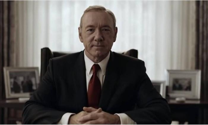 House of Cards, a primeira série orginal da Netflix e uma das mais populares Foto: Reprodução de vídeo / Divulgação