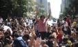 Protesto de estudantes pela melhoria na qualidade da merenda servida aos alunos na rede estadual, em São Paulo