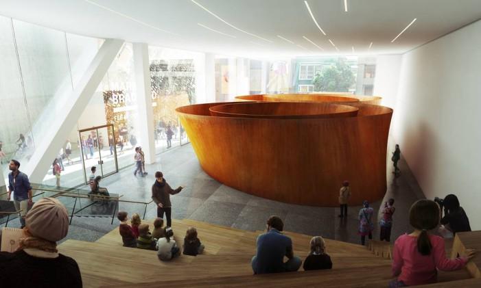 A nova galeria que será inaugurada em maio no MoMa de São Francisco Foto: MIR e Snøhetta / Reprodução