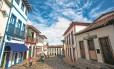 Casario: o centro histórico de Diamantina, em Minas