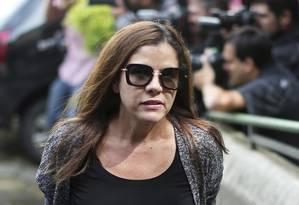 Presa. Monica Moura: detida na carceragem da PF desde fevereiro, ela negocia delação premiada Foto: AFP / 23.02.2016