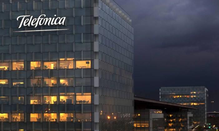 Sede da Telefonica, em Madrid, Espanha Foto: Angel Navarrete / Bloomberg